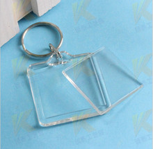 "170 Blank Acrylic Square Keychains Insert Photo Keyrings (Key ring chain)1.5""x 1.5""(China)"