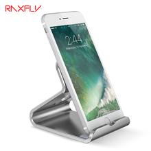 RAXFLY Universal Aluminum Metal Phone Stand Holder For iPhone 6 6s 7 7 Plus Desk Holder For Samsung S6 S7 Huawei Xiaomi Tablet