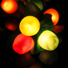 3.5M 28Leds Led String light Random Fruit Changeable color 220V plug Holiday christmas home party decor night light Lantern TW