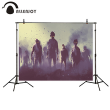Allenjoy photography background horrible Ruins Zombie ash Halloween theme backdrop photo background studio camera fotografica