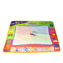 80X60cm Kids Water Drawing Painting Writing Toys Doodle Aquadoodle Mat Magic Drawing Board+2 Water Drawing Pen
