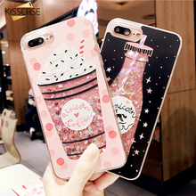 KISSCASE Christmas Case For iPhone 6 6S 7 8 plus Case Cover Luxury Silicon Pink Black Cute Glitter for iPhone 6 7 Fundas Coque(China)