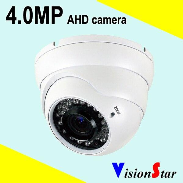 Varifocal 4MP AHD Dome Camera 36pcs IR Leds Metal Case Waterproof CCTV Outdoor and Indoor Surveillance System OSD Menu control<br>