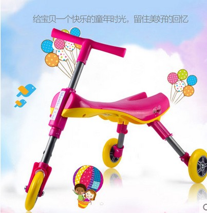 The 1-2-3-1-2-3 years old baby folding mantis car infants twisting, car side multi-function walkers<br><br>Aliexpress