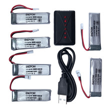 Li-Polymer Battery  3.7V 500mAh Li-Polymer Battery +A Six Charger For JJRC H37 RC Quadcopter  Best seller High quality