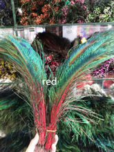Wholesale Free good shipping high-quality 20pcs natural peacock feather 30-35cm/12-14inch A variety of decorative red hot