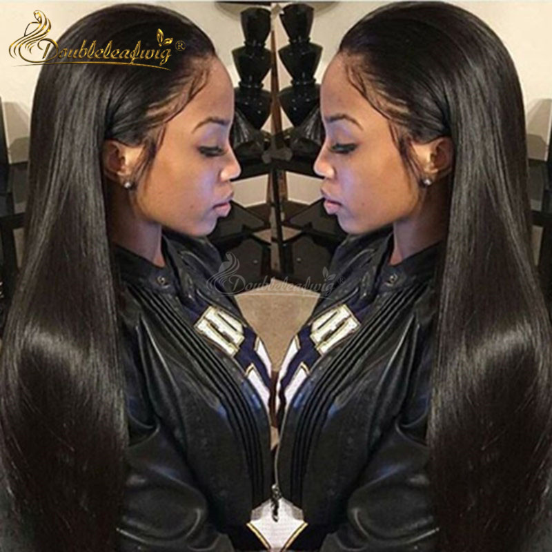 100% Brazilian Virgin Human Hair Wigs Straight Lace Front Human Hair Wig Bleached Knots Full Lace Wigs With Natural Hair Line<br><br>Aliexpress