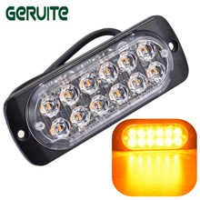Car-styling Ultra-thin LED High Power 12W Waterproof Police Lights 12V-24V 12 LED Car Truck Emergency Side Strobe Warning Light(China)