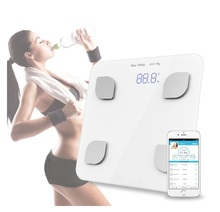 NHBR-Bluetooth Digital Body Weight Bathroom Scale Smart Backlit Display Scale for Body weight Body Fat Water Muscle Mass BMI