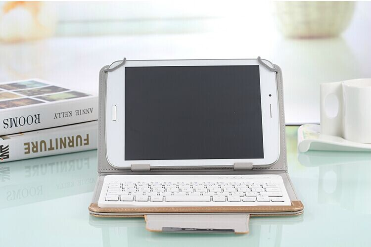 8 inch PU Leather Keyboard Case For huawei mediapad t1 8.0 Tablet PC  for mediapad t1  case keyboard<br>