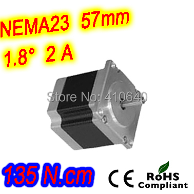 10 pieces per lot  high torque step motor 23HS30-2006S  L 76 mm Nema 23 with 1.8 deg  2 A  135 N.cm and  unipolar 6 lead wires<br>