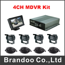 720P CAR DVR Kit With Waterproof Metal AHD Camera For Truck Tanker Ship Support 4 Channel(China)