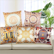 Thickening The Royal luxury high precision silk gold pillow cover chair pillow case car Brand cushion cover decoartive pillows(China)