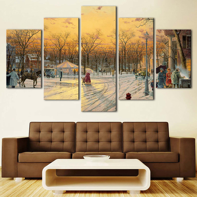 Wall-Art-Home-Decor-Framework-Painting-Canvas-Poster-5-Panel-Tree-Snow-Landscape-For-Living-Room.jpg_640x640
