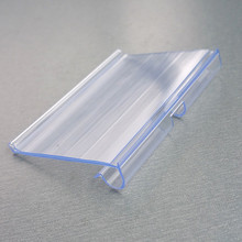 80/100x42mm PVC Plastic Price Tag Paper Label Display Holders Clips On Supermarket Store Hanging Hook Shelf Rack 1000pcs(China)
