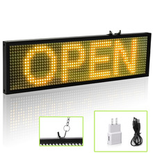 34cm yellow SMD P5 LED Message Sign Android mobile WiFi programmable scrolling information store bar LED display board(China)