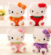 Free Shipping Sitting Height 23cm Hello Kitty Plush Toys Hello Kitty Toys Doll For Children Baby Toy