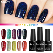 Sarness Nails Gels Removable Gel Lacquer Lucky Colorful Neon UV 8ml Gel Polish Nail Art Shiny Color UV Gel Nail Polish(China)