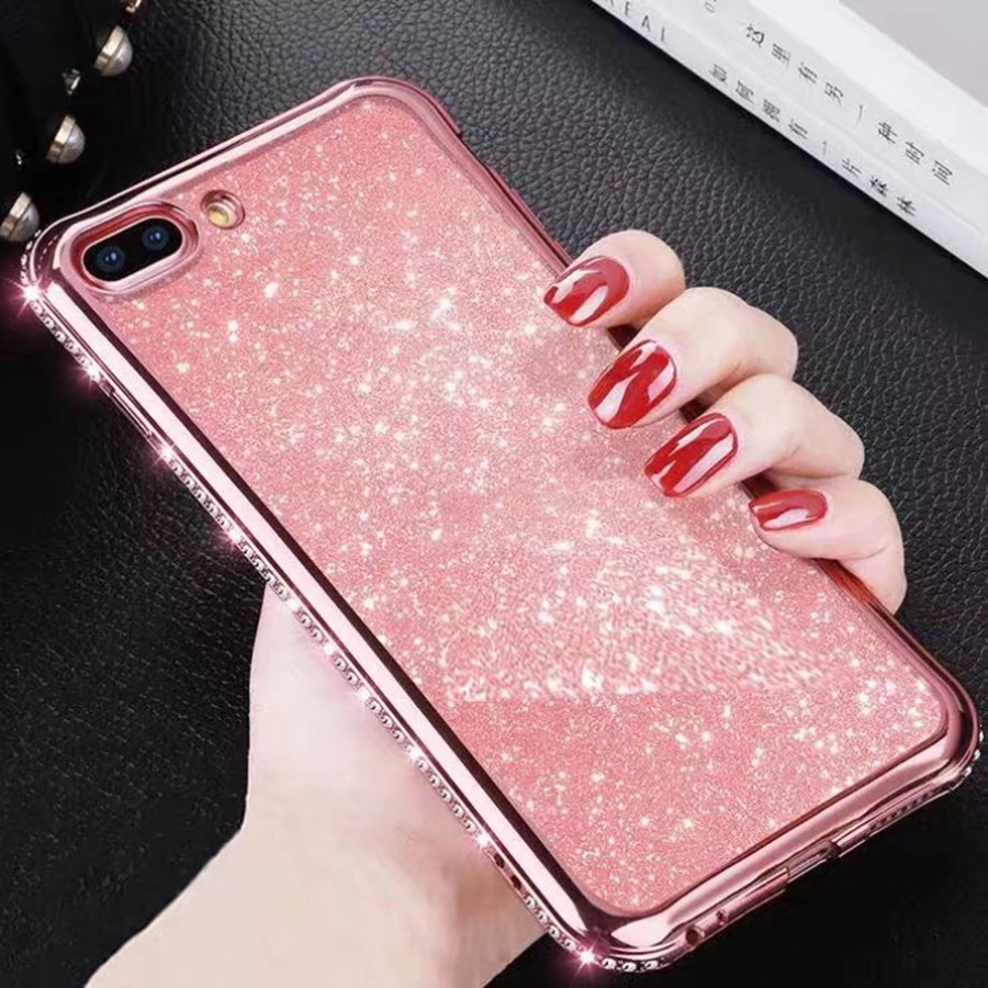 Rhinestone Glitter Case for Apple iphone XS MAX XR 10 X 7 8 Plus 6 S 6s Soft Silicone TPU Diamond Sexy Girl Protector Back Cover (14)
