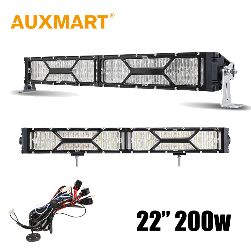 Auxmart CREE Chips 22 inch 200W LED Light Bar DRL Light Bar 4X4 Truck Camper Trailer 4WD ATV RZR Offroad Driving<br><br>Aliexpress