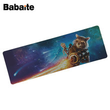Babaite Raccoons Rocket Large Mouse pad Lock Edge pad keyboard mouse Anti-slip Natural Rubber Guardians of the Galaxy mouse pad