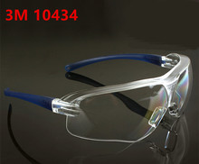 3M 10434 Safety Goggles Anti-wind Anti sand Anti Fog Anti Dust Resistant Transparent Eyewear protective glasses(China)