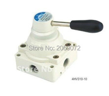 "1pcs 4 way 3 position Manual Hand lever Pneumatic Valve 1/4"" BSPT Center Closed(China)"