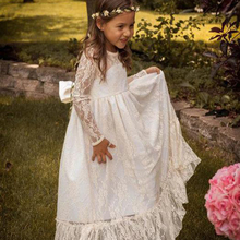 F16 Long Sleeve Lace Flower Girl Dresses 2016 Jewel White A line Floor Length Baby Formal Occasion Skirt First Communion Gowns