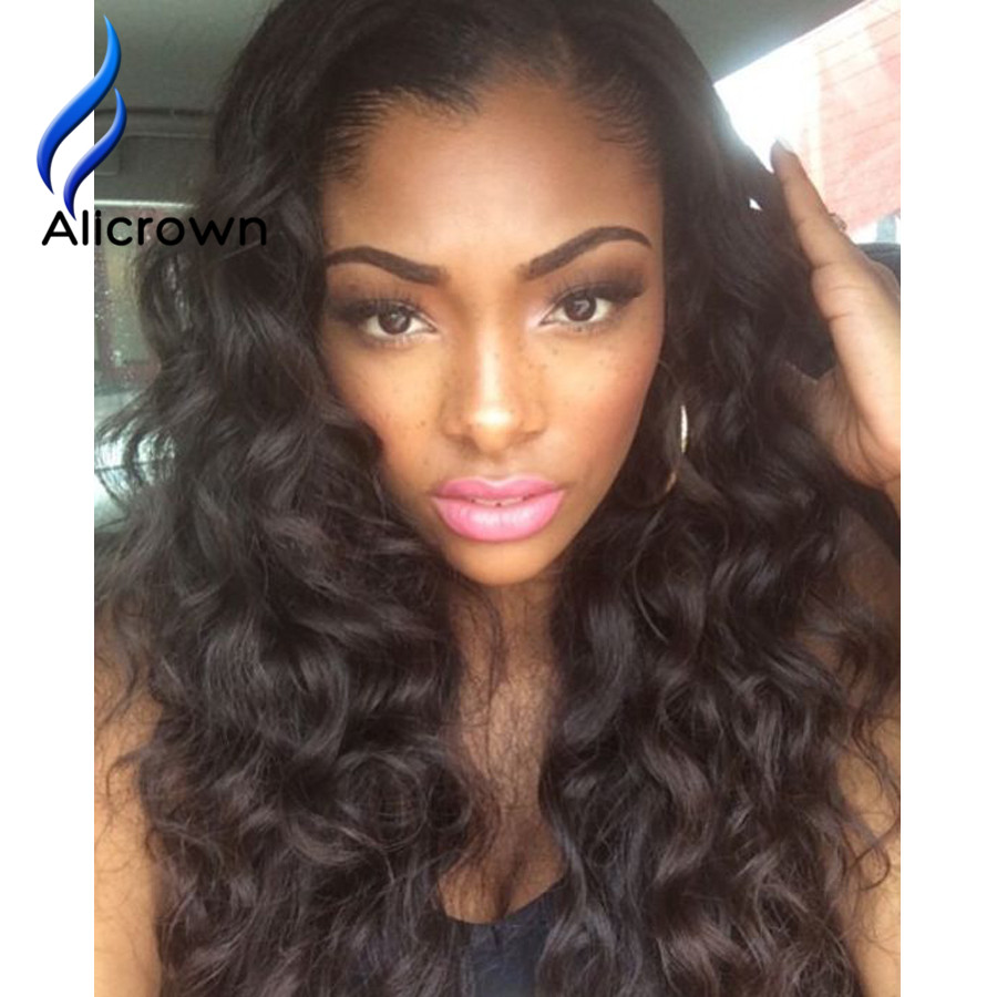 Unprocessed Brazilian Hair Full Lace Wig With Baby Hair Cheveux Bresilien Front Lace Wig Human Hair Natural U Part Wigs<br><br>Aliexpress