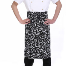 Kitchen Aprons Halflength Long Waist Apron Catering Chefs Waiters Uniform-F1FB