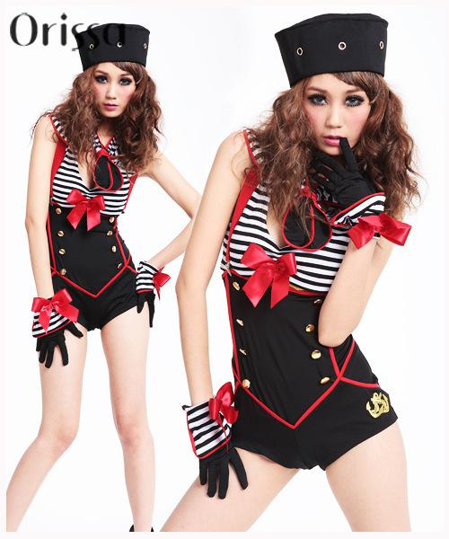 Navy Red White Women Pin up Sailor Costume LC8847 Sex Products Sexy Halloween Costume for Women fantasia feminina Party Dress(China (Mainland))