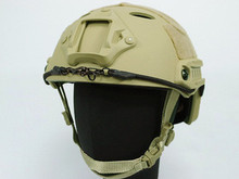 Deluxe Edition Airsoft FAST Base Jump Helmet Carbon Style Sports Safety Helmet Tan free ship