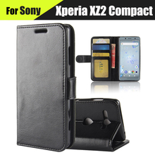 "Buy EiiMoo Phone Case Sony Xperia XZ2 Compact H8314 Leather Flip Wallet Case Sony Xperia XZ2 Compact Dual H8324 Cover 5.0"" for $6.86 in AliExpress store"