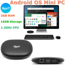 Jide Remix OS Android OS Mini PC Computer 1.2GHz CPU 2G RAM + 16 GB Storage TV Box 802.11g/b/n with 2* USB 2.0 HDMI Micro SD