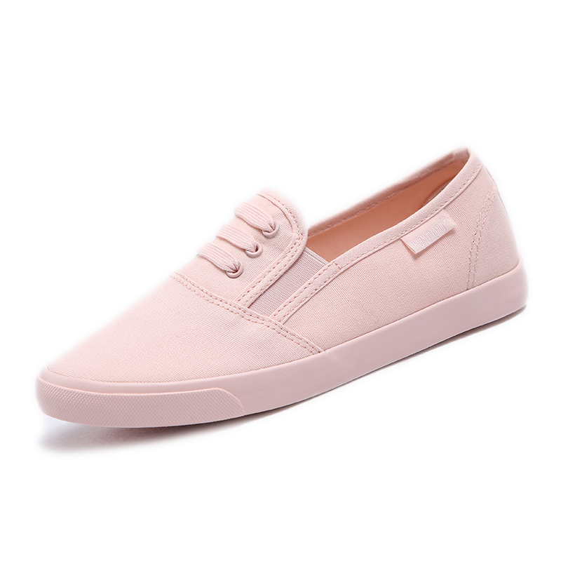 2017 women canvas shoes candy color loafers sweet princess low fashion girls bowtie cloth casual plus size shoes white pink <br><br>Aliexpress