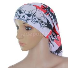 Multifunctional Headwear Headband Scarf Wristband Mask w/ Skull Heads Patterns