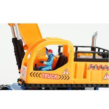 Electric Flashing Light Excavator Tractor Vehicle Digging Truck Model Simulation Excavating Machinery Sound Toy Kids Gift #1