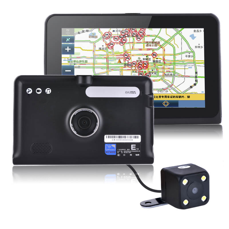 HD 7 inch Capacitive Screen Android Car Truck GPS Navigation Rear view Tablet PC Android 4.4.2 WIFI FM 16GB/512M DDR/ 1.5 GHZ(China (Mainland))