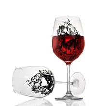 High-Grade Lead-Free Crystal Wine Glass With Diamond Cup Goblet Wedding Wine Glass Skull Glass Mug For Christmas Festival Gift