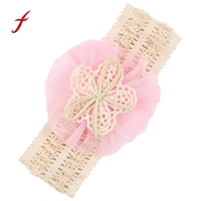 Newly Design 1 Piece Baby Infant Headbands Mesh Flower Hair Bands Fashion Child Hair Accessories Aug3(China)