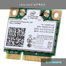 New Intel Dual Band Wireless-AC 7260 ac7260 7260HMW AC 7260 802.11ac MINI PCI-E Card 2.4G/5G Dual Band 2x2 WiFi + Bluetooth 4.0