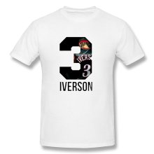 Fashion Men's T-Shirt Men Summer T-shirt Men's Allen Iverson T Shirt Men's Short Sleeve Shirt