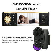 1 Din Car Radio Mp5 Player 4.1 inch Universal TFT Digital Screen 1 Din Car Radio Bluetooth with Steering Wheel Remote Control(China)
