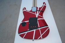 Free Shipping Guitars kramer 5150 RED and white EVH Series ARI tremolo Electric guitar, In Stock guitarra eletrica guitarra