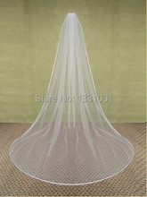 High Quality Wedding Veil With Crystal Cheap Wedding Veil Long Bridal Veils With Comb Cathedral Wedding Hair Accessory For Women