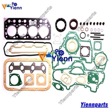 For Mitsubishi K4E Full Overhual Gasket Set with Head Gasket install Hanix N260 N350-2 Excavators K4E-DI Diesel engine Parts