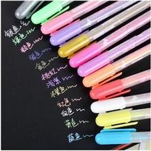 Office School Supplier DIY Albums Gel Pens Diary Candy Color Pens Water Chalk Highlighter Art Markers Pen 12pcs/lot ARC283
