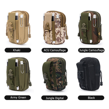 Molle Waist Bag Tactical Utility Gadget Pouch Smart Phone Bag Pouch Nylon Pouch Bag for iPhone 6S 7 7Plus for Samsung Huawai
