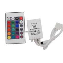 DC12V 6A 72W Sound Music RGB Controller White Color with 24 Key IR Wilress Remote Controller for 5050 or 3528SMD RGB LED Strips