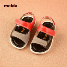 SIZE:11.5CM-16CM 2017 New Summer Baby Sandals Shoes Fashion Baby Boy Sandals Flat Light Sole Beach Shoes Infant hite black